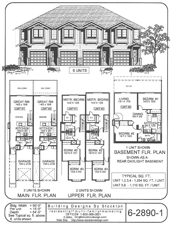 Building Designs By Stockton Plan 6 2890 1